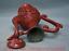 """miniature 11 - 9,6 """"Qianlong Marqué Vieux Chinois Rouge Laque Dynastie Fleur Manipuler Flagon"""