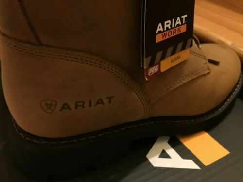"""NWT Men Ariat Boots Brown 100002418 Cascade 8/"""" Aged Bark EH Lace Work SOFT TOE"""