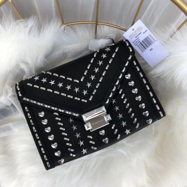 9e4145266d3a  HOT SALE  Michael Kors Whitney Large Studded Leather Convertible Shoulder  Bag