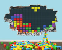 Tetris Gameboy Retro Boys Room Bedroom Nursery Smashed Vinyl Wall Decal 3d Art S