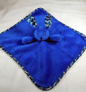 Vera Bradley Blue Bunny Rabbit Lovey Security Blanket