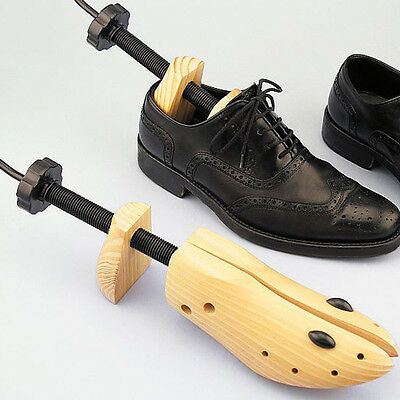 1Pcs Men Women Wooden Adjustable 2-Way Professional Shoe Stretcher Shaper Tree