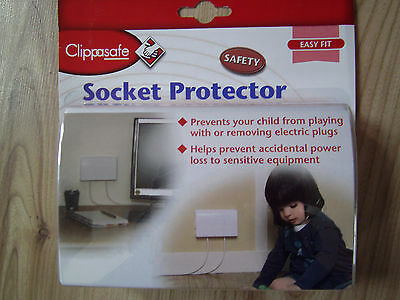 Clippasafe Double Socket protector prise électrique Couverture Bébé Enfant Sécurité Boîte