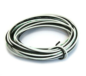 WR-POLY 8 Feet Of Black And White Poly Wire For Guitar And Bass