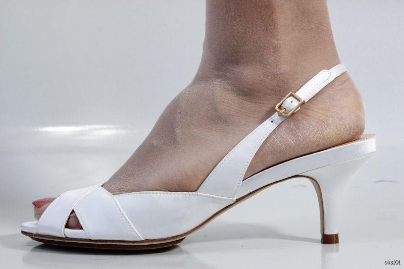 New COLE HAAN HAAN HAAN 'Ceci' Air Weiß satin open toe slingbacks schuhe - wedding dda420