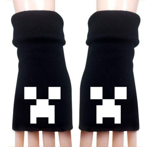 Minecraft Unisex Half-finger gloves