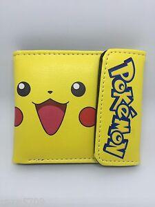 Pokemon Pikachu men's wallet PU Leather Purses WALLET