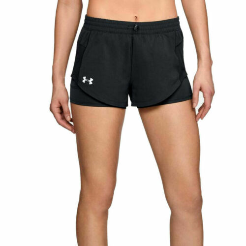 Under Armour UA HeatGear Define The Run 2 In 1 Ladies Black Running Shorts