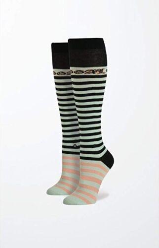 STANCE Women/'s RIHANNA Candy Bars Tall Boot Striped Mint Socks Size OS 6-10 NEW