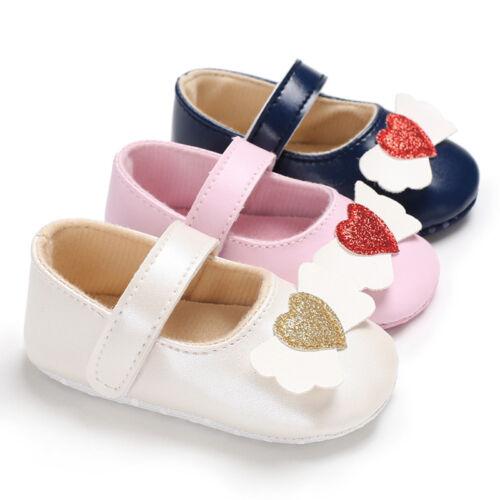 Infant Newborn Baby Baby Girls Shoes Love Decor Soft Anti-slip Single Sneaker