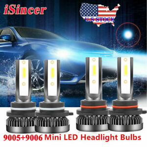 Mini-9006-9005-LED-Headlight-Kit-6000K-for-Chevy-Silverado1500-2500-HD-2001-2006