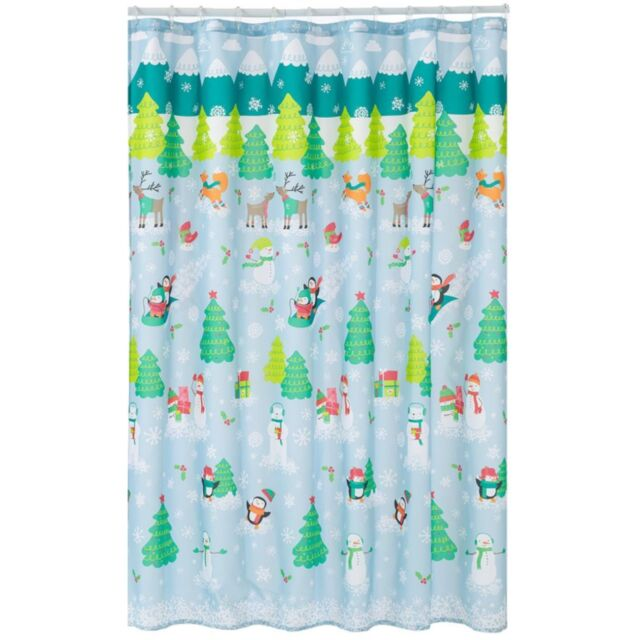 Buy St Nicholas Square Oh What Fun Fabric Shower Curtain Christmas