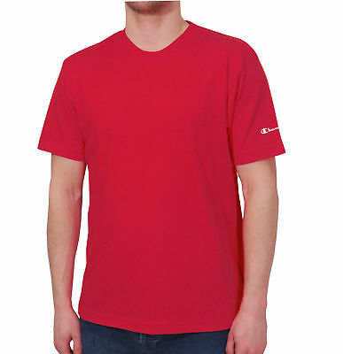 Champion Crew Neck Mens Short Sleeve Top - Red Preisnachlass