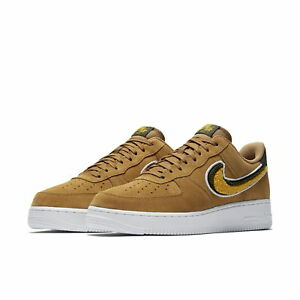 c7d461ef6c52 NIKE AIR FORCE 1  07 LV8 SUEDE MUTED BRONZE YELLOW OCHRE 823511 204 ...
