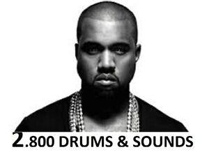 West Coast Legends DRUM SOUND KIT RAP DRUMS Hip Hop SAMPLES 808 MPC FL Logic MPC
