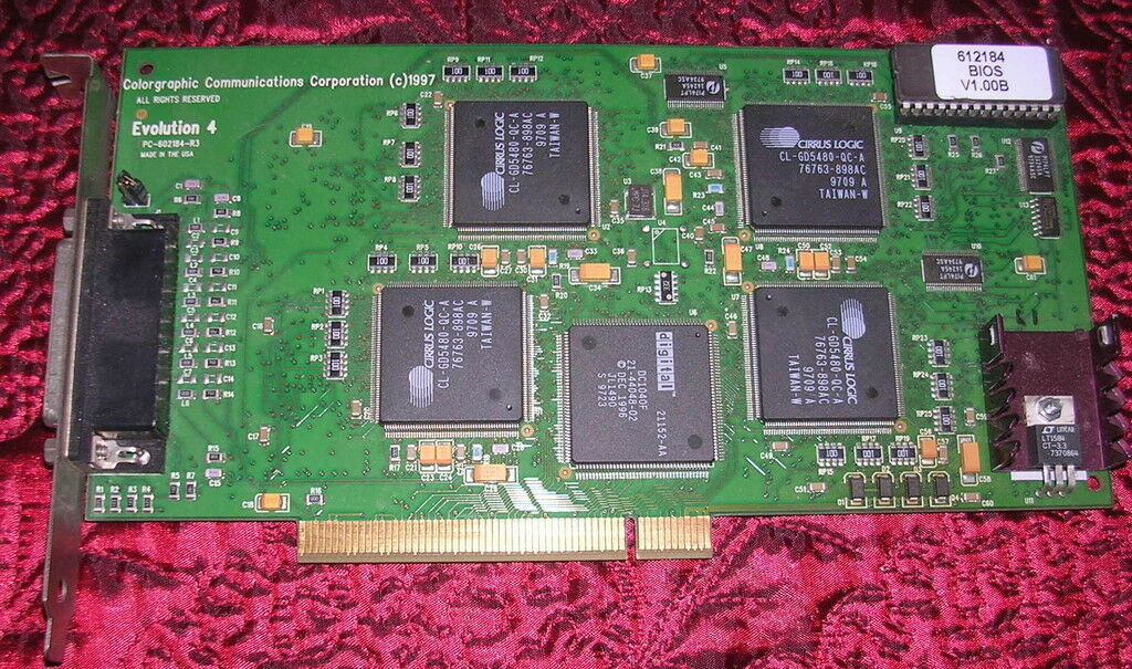 Colorgraphics Communications Evolution 4 Graphics Board/Card for 4 Displays?