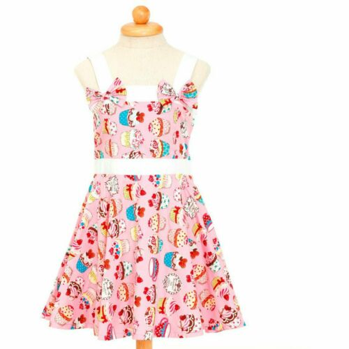 PINK CUPCAKES ROCKABILLY GIRLS DRESS SIZES 2 TO 12
