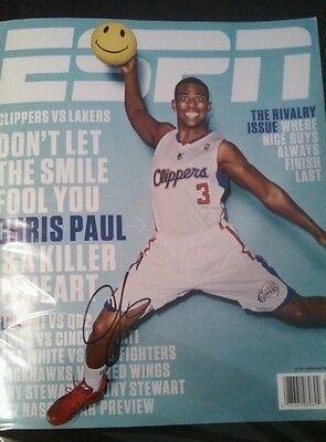 Sports Mem, Cards & Fan Shop Popular Brand Chris Paul Autographed Espn Magazine Clippers Wake Forest Signed No Label Basketball-nba