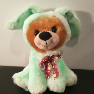 """Hard to find used 7 """" Easter Bunny Bear Plush """"Kids Of America Corp"""" RARE 🔥"""