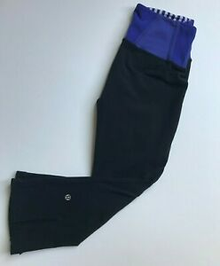 lululemon tadasana slit crop women athletic leggings capri