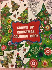 Adult Coloring Book Christmas Tree Santa Holiday Theme Relaxing Anti Stress