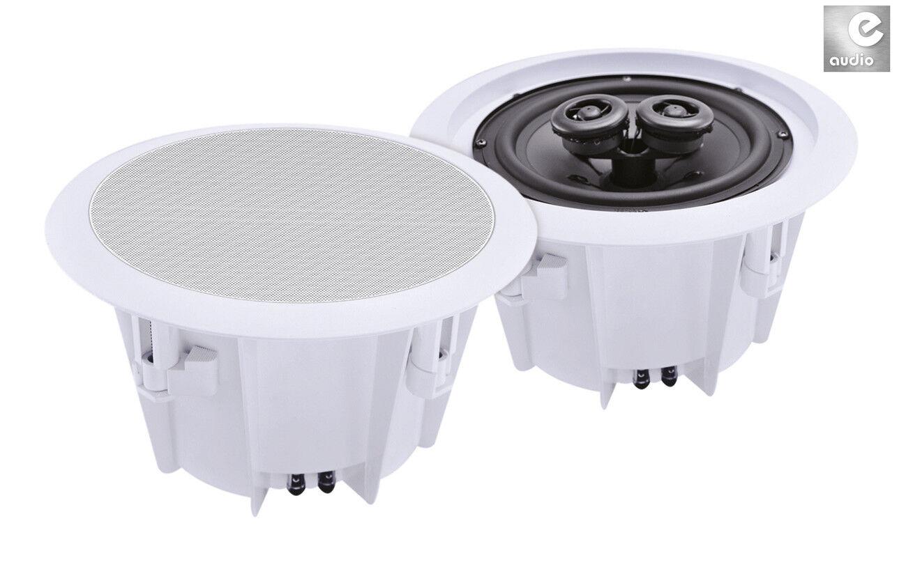 E-Audio Stereo Einbaulautsprecher wetterfeste Lautsprecher 13cm Feuchtraum B412