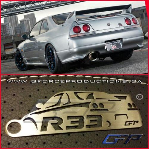 Nissan Skyline R33 GTR JDM Turbo Stainless Steel custom Key chain Nismo RB26
