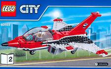 LEGO® Düsenjäger Jet Flugzeug Plane NEU aus Flugschau Airport Air Show 60103-2