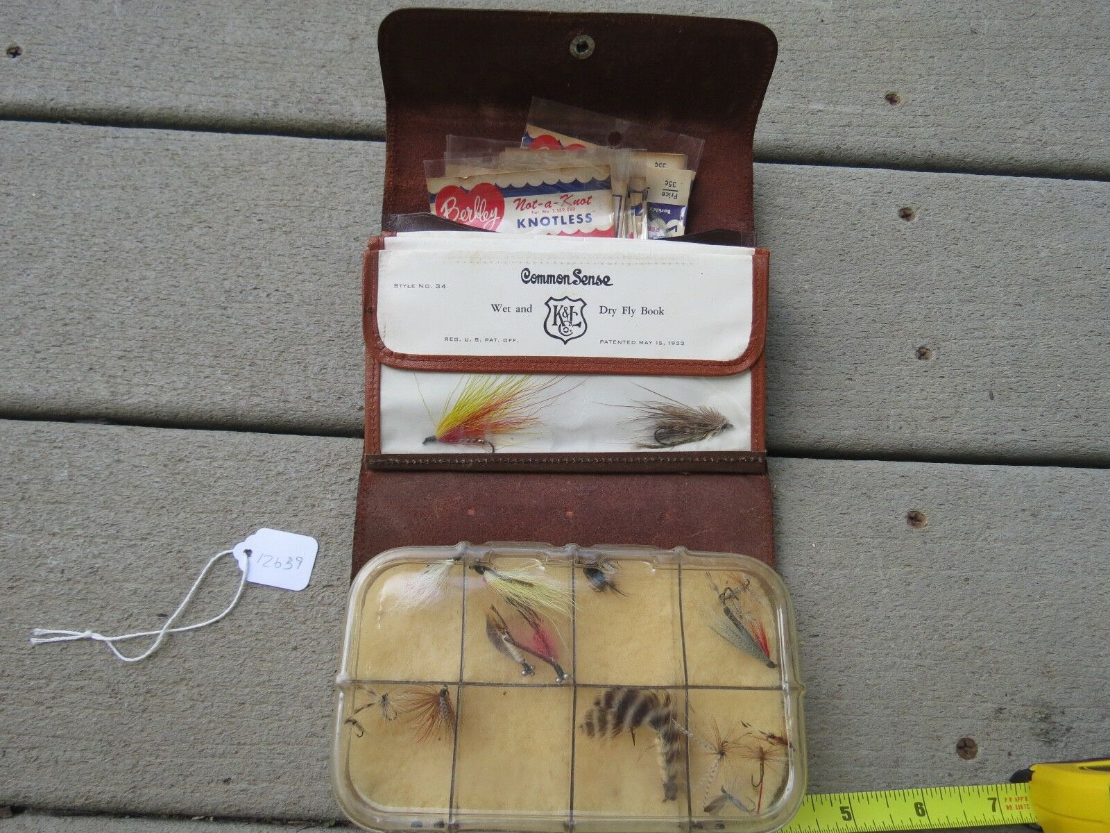 Vintage Common Sense fly fishing pouch made in USA (Lot 12638)