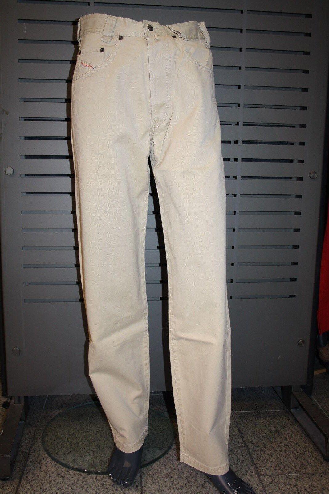 67235847a0 ... Diesel Jeans Saddle Gabardine beige neu Karottenschnitt 100% 100% 100%  Baumwolle 18a61a ...