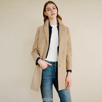 Topshop Tan Camel Slim Pocket Zip Biker Winter Crombie Jacket Coat 6 8 10 12 14