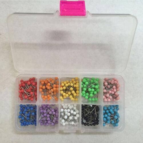 Plastic Round Head Pushpins Multi-color Push Pins Calendar Whiteboard Map Tacks