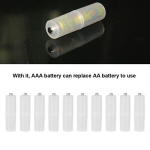 10pcs-AAA-to-AA-Battery-Converter-Adapter-Holder-Case-Cell-Switcher-Adaptor-Box