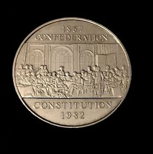1982-Canadian-1-Dollar-Nickel-Coin-Confederation-Canada-Constitution
