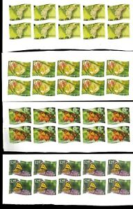 Wholesale Lot Butterflies. Tonga-Niuafo'ou #275-286 Imperf. x 6. Cat.325.20