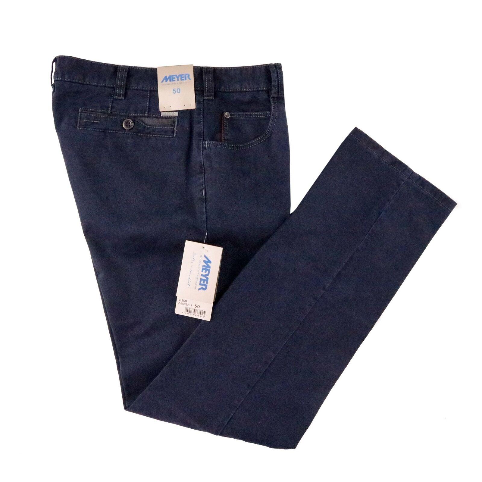 Nwt Meyer Diego Stahlblau Baumwolle Denim 5 Tasche Hose Jeans 50 34