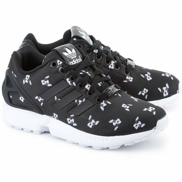 adidas ZX Flux Sneakers Schuhe Trainers Turnschuhe Damen schwarz NEU