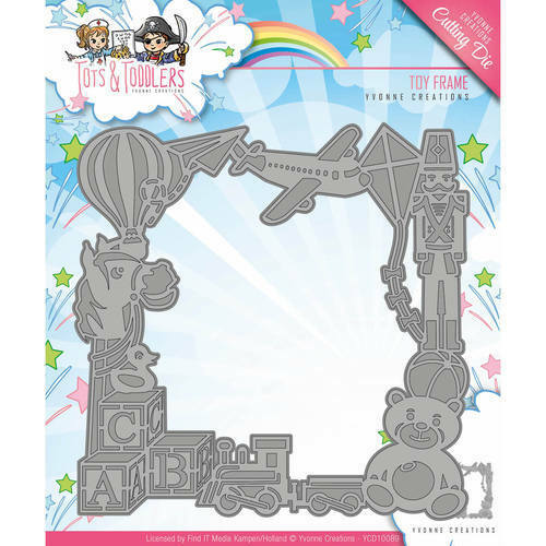 YCD10089 Tots and Toddlers Toy Frame Stanzschablone Yvonne Creations