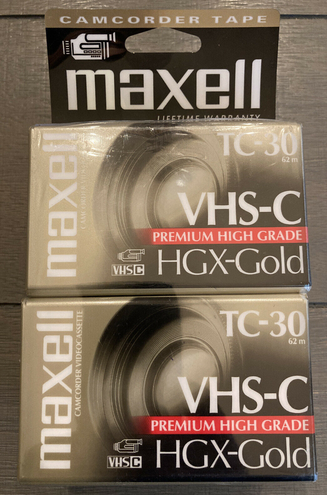 New Maxell Camcorder Video Cassettes 4 Pack VHS-C Tapes TC-30 HGX-Gold
