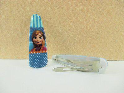 10 X 50mm Congelato Anna Dai Capelli Di Diapositive, Dormiglioni Fasce Capelli Fiocchi Vendita Look-
