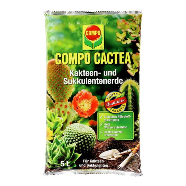 COMPO CACTEA Kakteen- und Sukkulentenerde mit 8 Wochen Dünger für alle Kakteenar