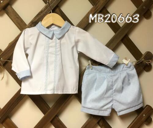 B5 LAST ONE REDUCED Pretty Originals Baby Blue Shirt /& Short Set 6m New