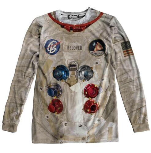 Dress Beloved Astronaut shirt manche ᄄᄂ Nouveau T 3xlarge Petit longue OXuTPiZk