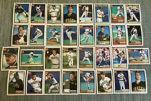 1991-PITTSBURGH-PIRATES-Topps-COMPLETE-Baseball-Team-Set-32-Cards-BONDSx2-DRABEK
