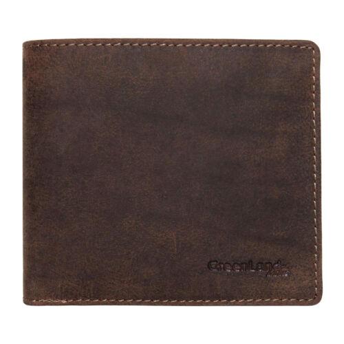 GreenLand Stone 2161-28 Vintage Leder Geldbeutel Geldbörse mit Münzfach