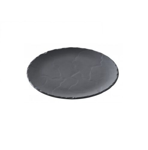 "Basalt Round Slate Plate 20cm// 8/"""