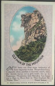 Old-Man-of-The-Mountain-Franconia-New-Hampshire-Vintage-Postcard-D87