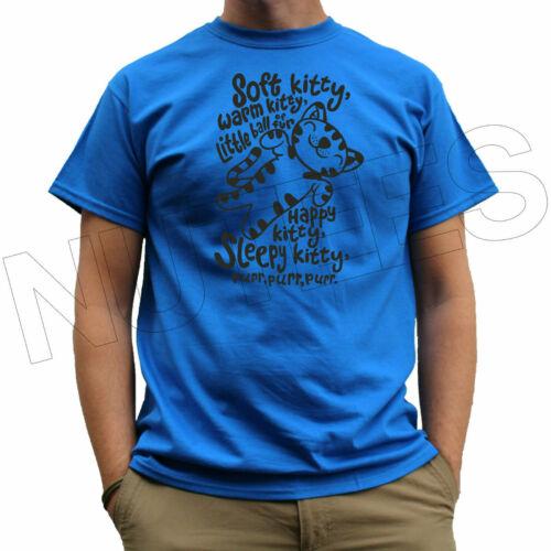 Soft Kitty Bazinga Big Bang Theory Funny Men/'s Ladies Kids T-Shirt Vest S-XXL