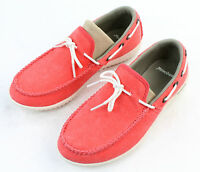 Patagonia Womens Kula Catalan Coral Canvas Slip On Moccasin Shoes Size 5 M