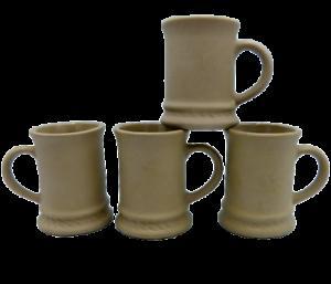 4-Hartstone-Pottery-Buff-Stoneware-Mugs-Vintage-Child-Size-or-AD-Espresso-USA